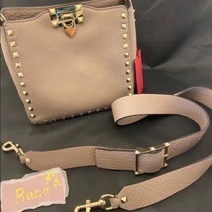 Valentino Garavani Rockstud Mini Leather Hobo Bag